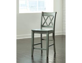 Signature Design by Ashley Mestler Bar Stool (Set of 2) in Green/Blue D540-124