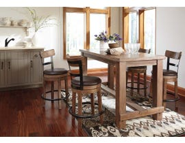 Signature Design by Ashley Dining Table and Chair Set in Grayish Brown D542D6