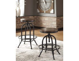 Signature Design by Ashley Valebeck Series Swivel Barstool in Brown/Black D546-60