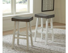 Signature Design by Ashley Glosco Tall Stool (Set of 2) in Brown Grey/Antique White D548-430