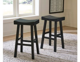 Signature Design by Ashley Glosco Tall Stool (Set of 2) in Black D548-530