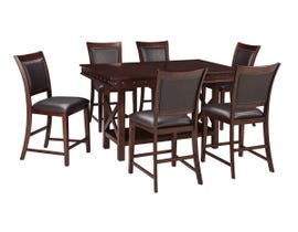 Signature Design by Ashley Dining Table and Chair Set in Dark Brown D564/124(6)/32