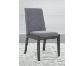 Signature Design by Ashley Besteneer Upholstered Side Chair (Set of 2) in Dark Grey D568-01
