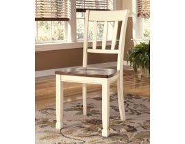 Signature Design by Ashley Whitesburg Side Chair (Set of 2) in Brown/Cottage White D583-02