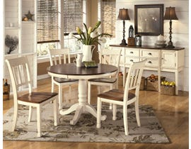Signature Design by Ashley Whitesburg Round Dining Table in Brown/Cottage White D583-15B-15T