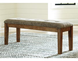 Signature Design by Ashley Flaybern Large Upholstered Dining Bench in Light Brown D595-00