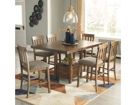 Ashley Flaybern Collection Pub Set in Light Brown D595