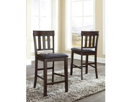 Signature Design by Ashley Haddigan Upholstered Bar Stool (Set of 2) in Dark Brown D596-124