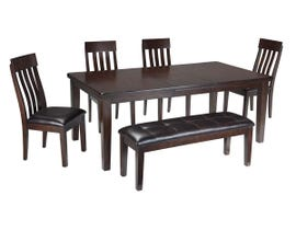 Signature Design by Ashley Dining Table and Chair Set in Dark Brown D596/00/01(4)/35
