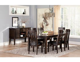 Signature Design by Ashley Haddigan Collection 7 Piece Dining Set in Dark Brown D596