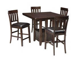 Signature Design by Ashley Dining Table and Chair Set in Dark Brown D596D5