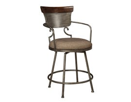 Signature Design by Ashley Moriann Upholstered Bar Stool (Set of 2) in Two-Tone Brown D608-624
