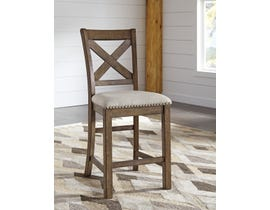 Signature Design by Ashley Moriville Upholstered Bar Stool (Set of 2) in Beige D631-124