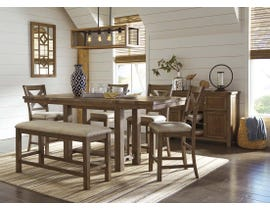 Signature Design by Ashley Dining Table and Chair Set in Grayish Brown D631D4