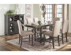 Ashley Audberry Series 7PC Dining Set in Dark Grey D637
