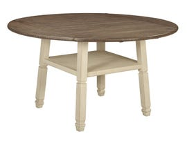 Signature Design by Ashley Bolanburg Series Round Drop Leaf Counter Table in Two-Tone Brown D647-13