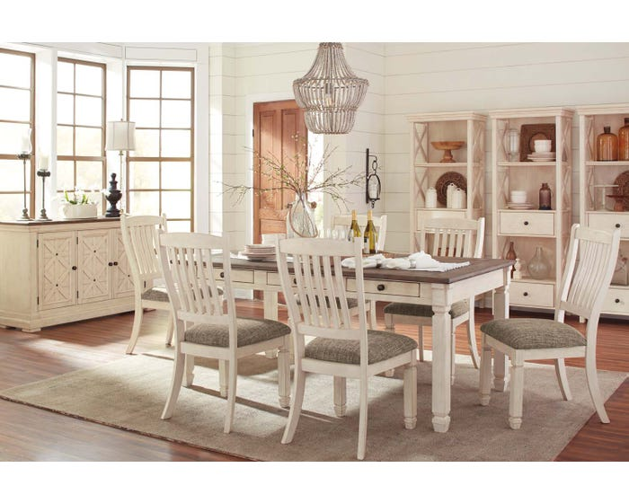 Magnificent Ashley Bolanburg Series 7 Piece Two Tone Dining Set D647 Squirreltailoven Fun Painted Chair Ideas Images Squirreltailovenorg
