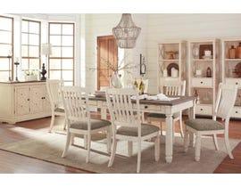 Ashley Bolanburg series 7 piece two-tone dining set D647