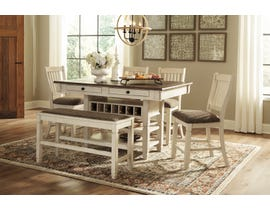Signature Design by Ashley Bolanburg Dining Counter Table in Two-Tone Brown D647-32
