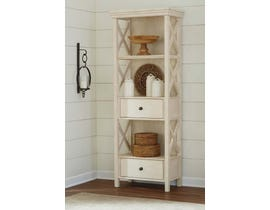 Signature Design by Ashley Bolanburg series display cabinet antique white finish D647-76