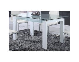Global Furniture dining table white D648DT