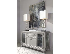 Signature Design by Ashley Coralayne Series Dining Room Server in Silver D650-60