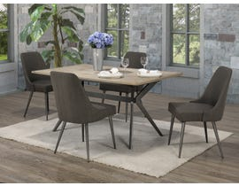Brassex Celine 5-Piece Dining Set in Rustic Oak/Dark Grey D655-5-DGR