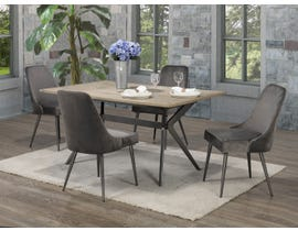 Brassex Celine 5-Piece Dining Set in Rustic Oak/Grey D655-5-GR