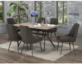 Brassex Celine 7-Piece Dining Set in Rustic Oak/Dark Grey D655-7-DGR