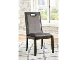 Signature Design by Ashley Hyndell Upholstered Side Chair (Set of 2) in Grey/Dark Brown D731-01