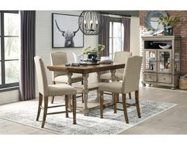 Signature Design by Ashley Lettner 5pc Extending Dining Set in Grey D733-32-124(4)
