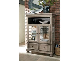 Signature Design by Ashley Lettner Dining Room Curio Server in Grey D733-86