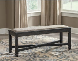 Signature Design by Ashley Tyler Creek Series Upholstered Bench in Black/Greyish Brown D736-00