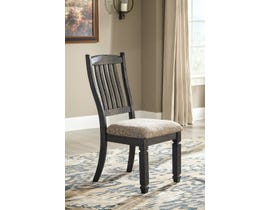Signature Design by Ashley Tyler Creek Upholstered Side Chair (Set of 2) in Black/Greyish Brown D736-01