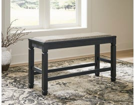 Signature Design by Ashley Tyler Creek Series Upholstered Counter Bench in Antique Black D736-09