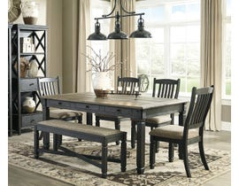 Signature Design by Ashley Tyler Creek wood 6-piece dining set in black and grey with bench D736