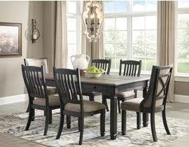 Signature Design by Ashley Dining Table and Chair Set in Black/Gray D736D7