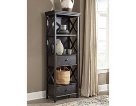 Signature Design by Ashley Tyler Creek Series Display Cabinet in Black/Gray D736-76