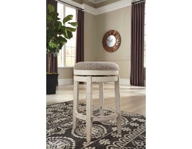 Signature Design by Ashley Realyn Upholstered Swivel Stool in Chipped White (Set of 2) D743-024