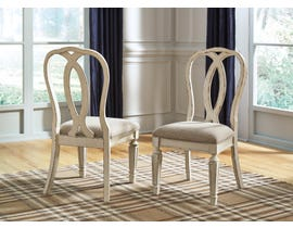 Signature Design by Ashley Realyn Upholstered Side Chair (Set of 2) in Chipped White D743-02