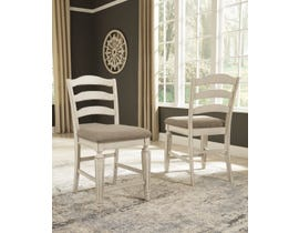 Signature Design by Ashley Realyn Upholstered Bar Stool (Set of 2) in Chipped White D743-124