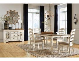 Signature Design by Ashley Realyn 5pc Rectangular Extending Dining Set in Chipped White D743-45-01(4)