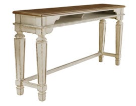 Signature Design by Ashley Realyn Series Long Counter Table in Chipped White D743-52