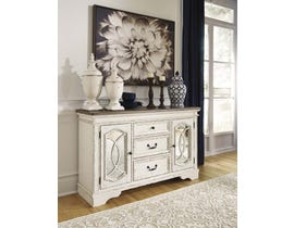 Signature Design by Ashley Realyn Series Dining Room Server in Chipped White D743-60
