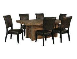 Signature Design by Ashley Dining Table and Chair Set in Brown D775D7