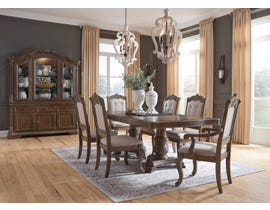 Signature Design by Ashley Charmond 7pc Extending Dining Set in Brown D803-55B-55T-01(4)-01A(2)
