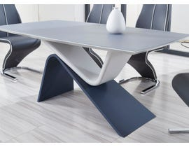 Global Furniture Matte Grey/Dk Grey Base Dining Table
