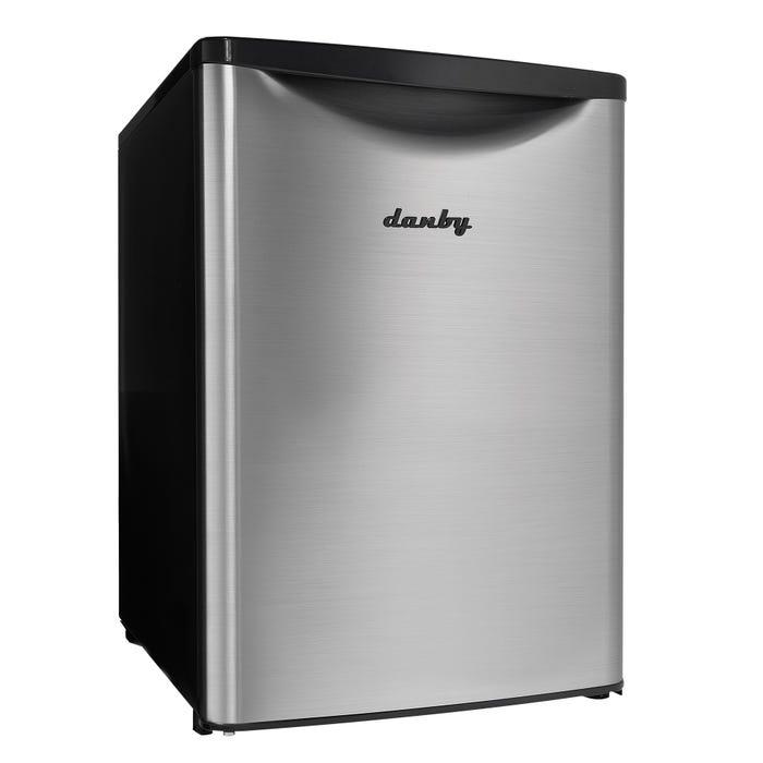 Danby 2.6 Cu.ft. Compact Refrigerator Silver DAR026A2BSLDB