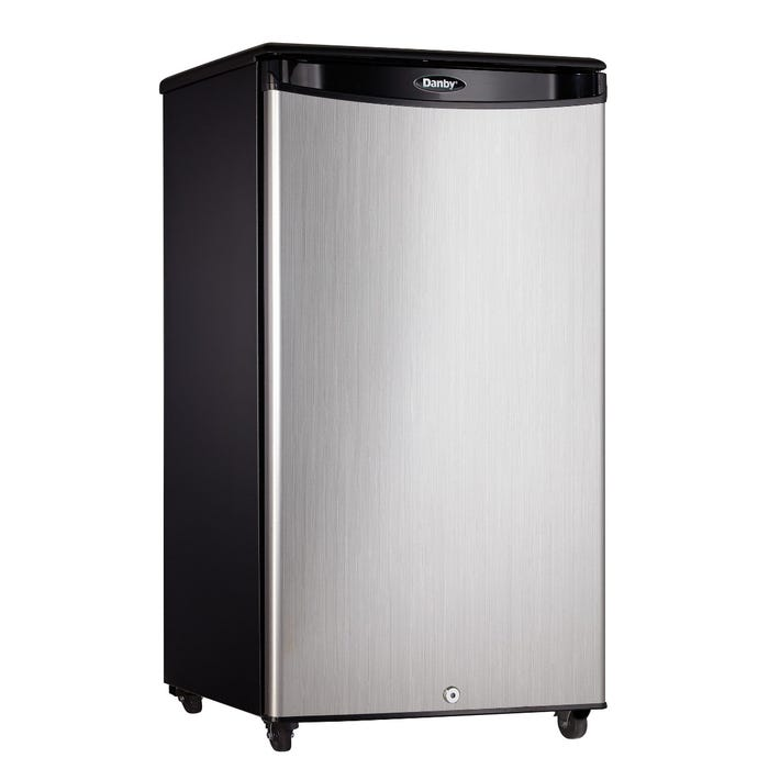 Danby 18 inch 3.3 cu.ft. outdoor compact refrigerator in stainless DAR033A1BSLDBO