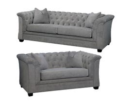 Edgewood Furniture Sofa Set 1593-38-35 in Charcoal